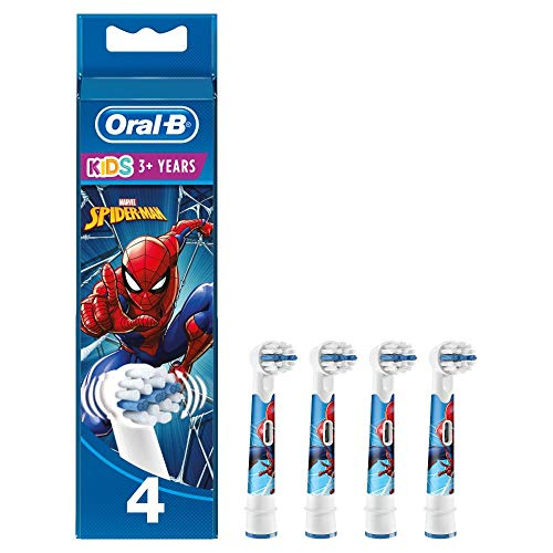 Oral-B Kids Spiderman Aufsteckbürsten für Kinder ab 3 Jahren, 4 Stück
