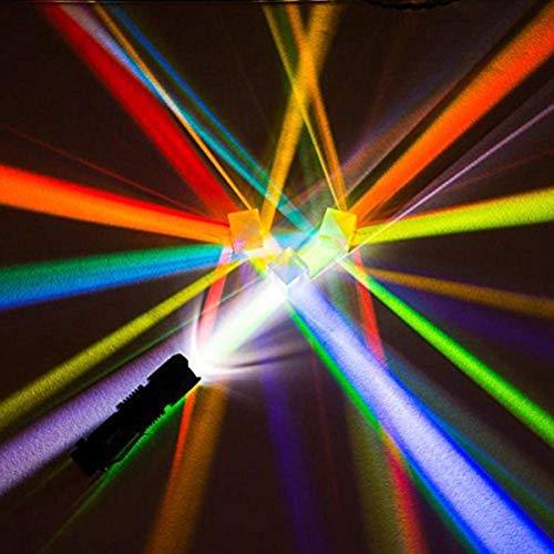DyNamic 2 Stücke 2,2x2,2x2,2 cm Optisches Glas Educational Prism Kreuz Dichroic X-Cube Glas Prismen RGB Kombinierer Dekoration Glas Splitter Prisma
