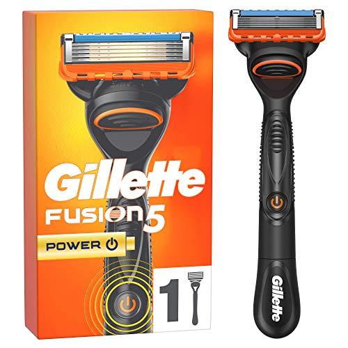 Gillette Fusion 5 Power Rasierer für Männer - 1 Klinge, die weltweite Nr. 1 unter den 5-Klingen Rasierern, entwickelt mit Anti-Irritations-Klingen, für bis zu 20 Rasuren pro Klinge