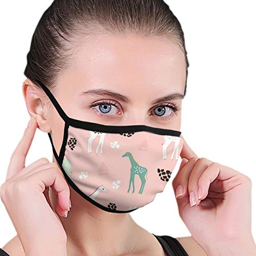 Dataqe Kleurrijke Lange Cartoon Paard Gezicht Maskers Voor Stofbescherming Katoen Wasbaar Herbruikbaar Voor Mannen En Vrouwen Universeel
