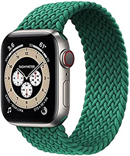 Banda de relógio trançada solo loop cinta para apple 44mm 40mm 42mm 38mm 44mm tecido elástico de náilon pulseira iwatch se...