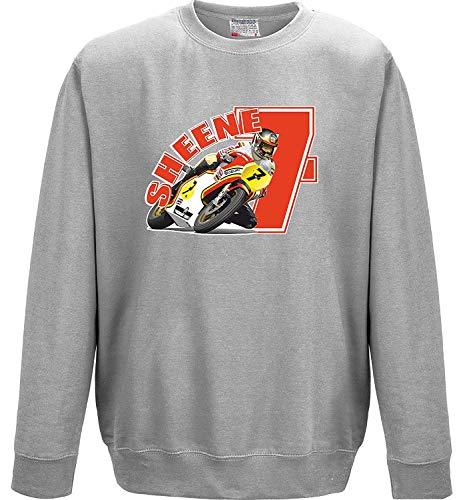 Grand Prix Biker Moto GP Retro Racing Barry Sheene Red 7 Sweat-Shirt Homme - Gris - XX-Large