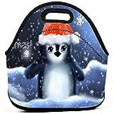 Almuerzo Bolsas Pingüino Sombrero Cub Copos de nieve Navidad Neopreno Bolsa de mano aislada Caja Para Hombres Mujeres Trabajo de oficina Picnic Viajes