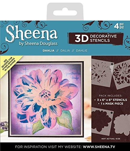 Sheena Douglass 3D-masker & sjablonen-Dahlia, 16,6 x 18,9 x 0,3 cm
