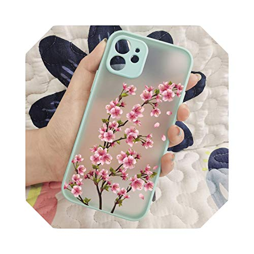 Cherry Blossom Tree Mobile Phone Translucent Mate Soft TPU Case for iPhone 7 8 X XS XR 11 12 Pro Max Cover-A10-for iPhone 12 Mini