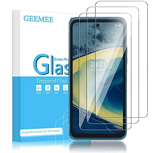 GEEMEE für Nokia X20 /Nokia XR20/Nokia X10 Panzerglas Schutzfolie, 3 Stück 9H Filmhärte Gehärtetem Schutzglas Hohe Empfindlichkeit Panzerglas schutzfolie