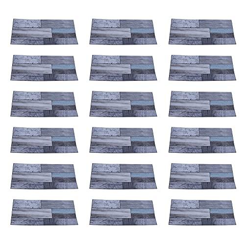 Atyhao 18 Piezas de Azulejos Impermeables Pegatina autoadhesiva a Prueba de Aceite Pegatinas de Pared calcomanía de Pared para la decoración de la Pared del Dormitorio de la Sala de Estar del hogar
