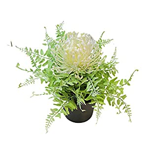 Artificial Flowers, Artificial Plants Artificial Flowers,Potted Artificial Protea Flower Bonsai Stage Office Garden Wedding Home Party