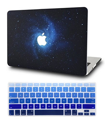 KECC Laptop Case for MacBook Pro 13' (2020/2019/2018/2017/2016) w/Keyboard Cover Plastic Hard Shell A2159/A1989/A1706/A1708 Touch Bar 2 in 1 Bundle (Blue)