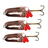Zite Fishing - Set di 3 esche da pesca a spinning, per luccio, luccioperca, pesce persico, pesce persico, esca artificiale in rame, 16-34 g