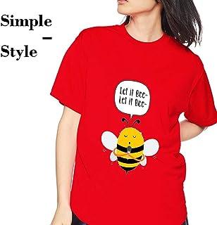 Fuleadture レディース Tシャツ 半袖 100%綿 カジュアル おもしろプリントデザイン創意 ラウンドネック 軽い 柔らかい ヘビー級 春夏 サマーブラウス 女性の為に