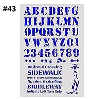 エンボステンプレート階層化ステンシル絵画ホットアルバム装飾スタンプ紙カードスクラップブッキング・ウォール(43)