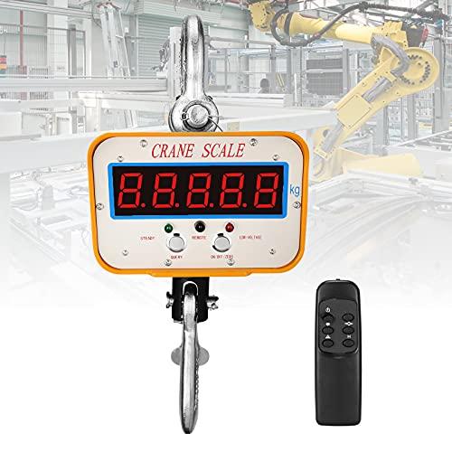 Escala de grúa digital,2000kg Balanzas electrónicas digitales para grúa con control remoto