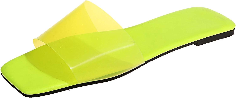 ZiSUGP Women's Summer Slip-On Flat Beach Open Toe Breathable Slippers Shoes