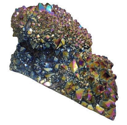 Crystal Cave Titanium Rainbow Aura Quartz Druzy Stone 226 gram Specimen Collector AAAAA +++++ Druzy Stone
