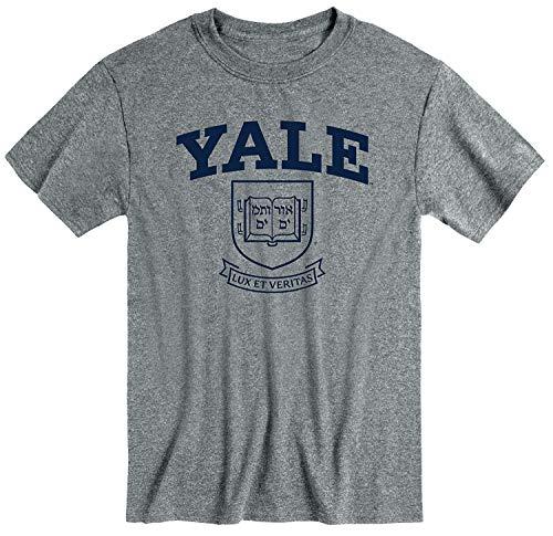 Ivysport Yale University Bulldogs Short-Sleeve T-Shirt, Heritage, Charcoal Heather, Medium