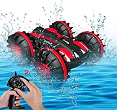 Seckton Toy Cars for 6-12 Year Old Boys Girls Amphibious RC Car 2.4 GHz Remote Control Boat Waterproof RC Monster Truck Stunt Cars 4WD RC Vehicle All Terrain Water Beach Pool Christmas Birthday Gifts