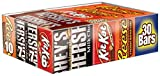 HERSHEY'S Halloween Chocolate Candy Bar Assorted Variety Pack (HERSHEY'S Milk Chocolate, HERSHEY'S Milk Chocolate Almond, KIT KAT, REESE'S Cups), Full Size, 30 Count Gift