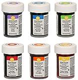 bakeryteam Wilton Gelfarben im Spar-Set Regenbogenmix (6 x 28 g)