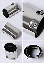 New 1pcs Stainless Steel Tailpipe Exhaust Muffler Tail Pipe Tip Custom Fit for Subaru Forester 2010 2011 2012 2013 2014 2015 2016 2017 2018 2019 2020