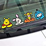 Winnie The Pooh Wall Decal Car Accessories Onlookers Funny Winnie Pooh Sticker Decal for Motorcycle Skateboard Chevrolet Car Stickers(10' x 2.7')