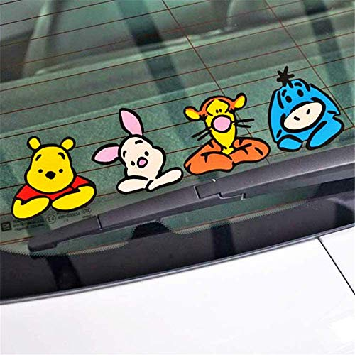 """Pqzqmq Winnie The Pooh Wall Decal Car Accessories Onlookers Funny Winnie Pooh Sticker Decal for Motorcycle Skateboard Chevrolet Car Stickers(10"""" x 2.7"""")"""