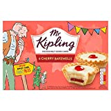 6 Pastry cases with a layer of raspberry falvoured plum jam and almond flavoured cake, topped with fondant icing and half a cherry. No Artificial Colours or Flavours. Imported from England. Mr. Kipling makes exceedingly good cakes!! Mr Kipling launch...