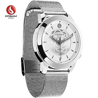 DREAM SPORT Hybrid Smart Watch?Analog Smartwatch Bluetooth & 3 ATM Waterproof - Activity Tracker Calories Counter Sleep Monitor Fashion Smart Watches Men & Women