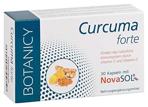 CURCUMA FORTE mit flüssigem Mizell-Curcumin ohne Piperin, hochdosiertes Kurkuma für die tägliche Einnahme, Kapsel entspricht 7.400 mg Kurkuma-Pulver (30 Kapseln, Monatspack)