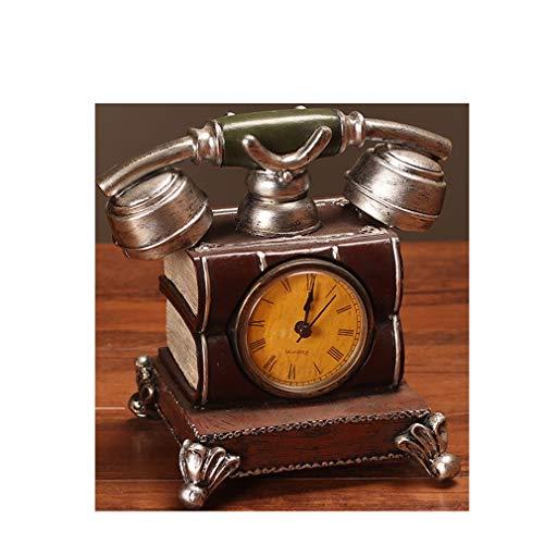 Lucidting Vintage Dekorative Ornamente, Uhren Und Uhren Silber
