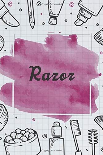 Razor NoteBook Gift Idea: Lined makeup NoteBook Gift / Make-up Artist Notebook Gift, 120 Pages, 6x9, Soft Cover, Matte Finish