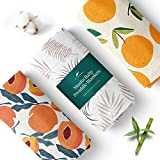Unisex Swaddle Blankets, 3-Pack – Soft, Bamboo Rayon and Cotton Baby Blankets for Boys and Girls Promote Sound Sleep – 47x47 in. Receiving Blanket/Multipurpose Baby Essentials by San Francisco Baby