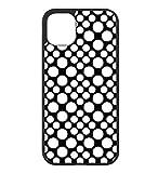 Coque pour Huawei P7 Motif géométrique Pattern Noir et Blanc - Ronds Blancs - Coque Noire...