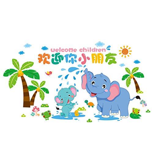 Pegatina De Pared Pegatina De Elefante De Dibujos Animados Pegatinas De Pared Decoración De Habitación De Niños Diseño De Habitación De Dormitorio De Bebé Papel Tapiz Autoadhesivo Pintura De Pared D