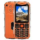 Hyuduo1 Telefono Cellulare da 2,4 Pollici, Telefono Cellulare Mini Ultrathin Straight Board, Dual Card Dual Standby 2G Mobile Phone, 32 MB + 32 MB(Arancia)