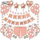 Decoracione para Fiestas de Cumpleaño Kit de Oro Rosa - Paquetes de Suministros para...