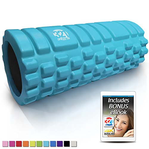 321 STRONG 758576546933ALIFFBA Foam Roller, Medium Density Deep Tissue Massager...