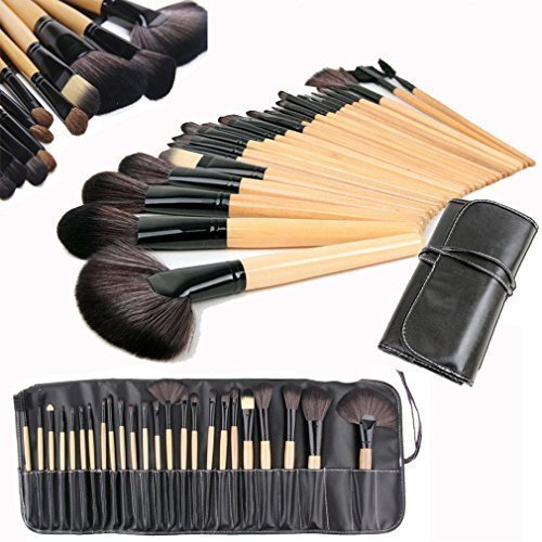 Wholesale Solutions Ltd - 24 Pcs Professionnel Maquillage Ensemble de brosses Base brosses Kabuki Ventilateur brosses étui