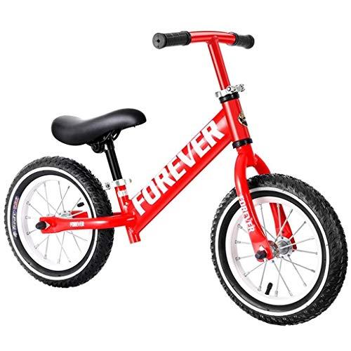 CENPEN Infantil Scooter Pedal de equilibrador de 2-6 años de Edad, niños y niñas de la Bicicleta del niño Equilibrio del Coche Dar a niños (Color: Rojo, Tamaño: 12 Pulgadas)