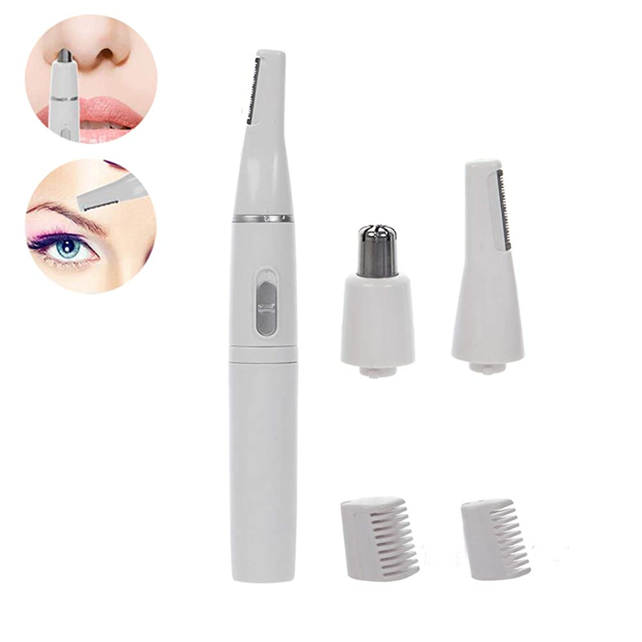 電動眉毛整形ナイフ、2 in 1鼻毛、かみそり防水、ユニセックス