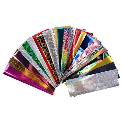 Cyeer Nagel Sticker,24/Set Nagel Kunst Folien Shinning Gemischte Schönheit Nagel Kunst Dekoration