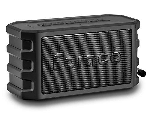 Altoparlante Bluetooth, Foraco Bluetooth 4.2 Stereo Portatile Cassa con Supporto per Bici, 24 Ore di Riproduzione / Enhanced Bass / IP65 Impermeabile / Built-in 6000 mAh Batteria / PowerBank Funzione / Microfono Incorporato per le Chiamate / Scheda TF Supporto / Nero