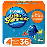 Huggies Little Swimmers Swim Diapers, Size 4 Medium, 36 Count (2 Packs of 18)