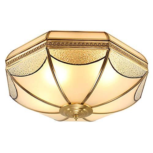 Plafoniere in Ottone Vintage Lampada Da Soffitto Retrò in Vetro Luce Da Soffitto Da Soggiorno Lampada Da Corridoio Lampada Da Letto Lampada Da Tavolo Da Ristorante Lampada Da Cucina Ø45cm, E27 × 4