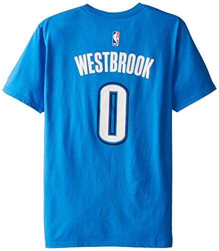 adidas Oklahoma City Thunder Russell Westbrook NBA da Uomo Maglietta, Uomo, Blue, S