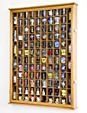 108 Shot Glass Shotglass Shooter Display Case Holder Cabinet Wall Rack 98% UV Lockable Door -Oak