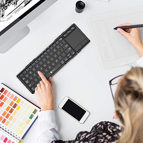 51W4L4QzFPL-折り畳み式フルキーボードの「iClever  IC-BK05」を購入したのでレビュー!小さくなるのはやっぱ便利です。