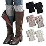 Century Star Calcetines deportivos para mujer con patrón de punto, calcetines de lana de corte redondo, calcetines de cachemira, cálidos y suaves - - Talla única