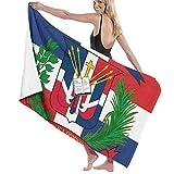 ZQHRS Toallas de baño Paños para el hogar, Hotel, SPA, Viajes a la Playa - Toallas con Bandera de República Dominicana, Toalla de baño con Ducha Suave y Absorbente Toalla de baño Extra Grande - 32X5