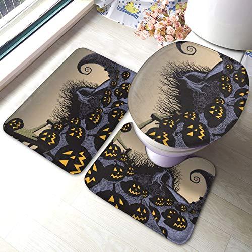 PKLUAS - Juego de 3 alfombras de baño de Franela Suave, antiestática,...